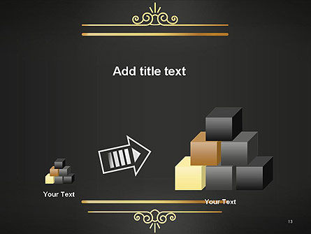 Vintage Gold Frame PowerPoint Template Slide 13