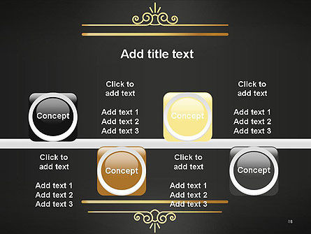 Vintage Gold Frame PowerPoint Template Slide 18
