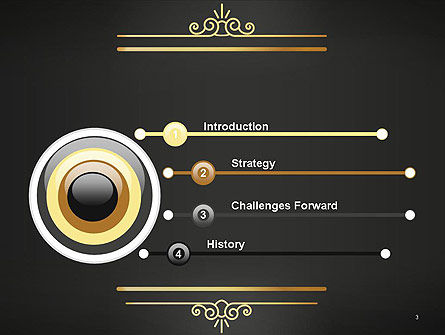 Vintage Gold Frame PowerPoint Template Slide 3