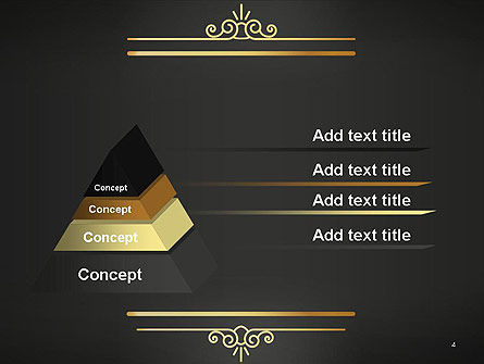 Vintage Gold Frame PowerPoint Template, Slide 4, 14263, Abstract/Textures — PoweredTemplate.com