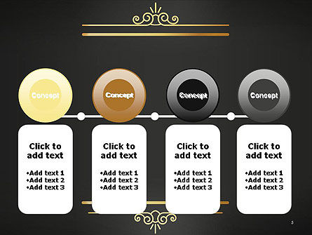 Vintage Gold Frame PowerPoint Template Slide 5
