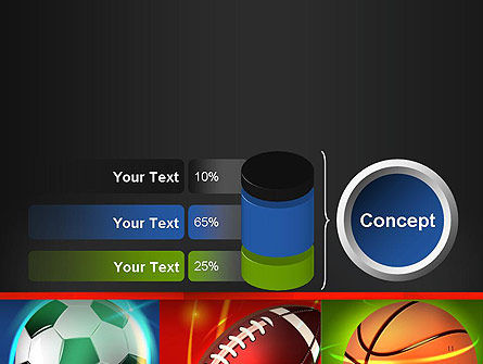 Soccer Rugby and Basketball Balls PowerPoint Template Slide 11