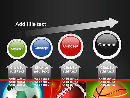 Soccer Rugby and Basketball Balls PowerPoint Template Slide 13
