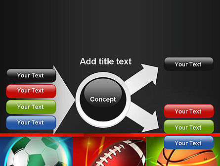 Soccer Rugby and Basketball Balls PowerPoint Template Slide 14