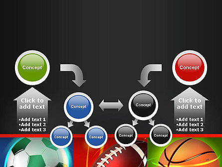 Soccer Rugby and Basketball Balls PowerPoint Template Slide 19