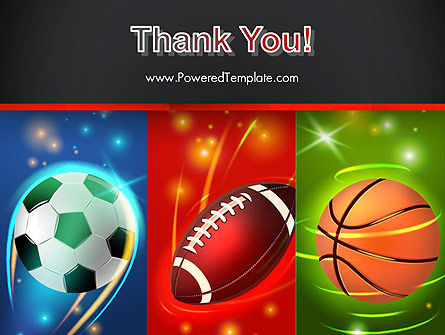 Soccer Rugby and Basketball Balls PowerPoint Template Slide 20