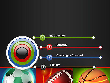 Soccer Rugby and Basketball Balls PowerPoint Template, Slide 3, 14264, Sports — PoweredTemplate.com