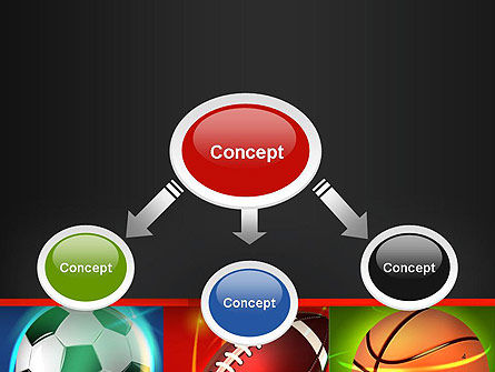 Soccer Rugby and Basketball Balls PowerPoint Template, Slide 4, 14264, Sports — PoweredTemplate.com
