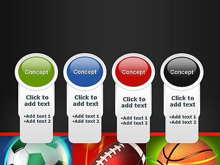 Soccer Rugby and Basketball Balls PowerPoint Template Slide 5