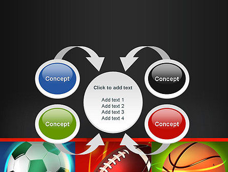 Soccer Rugby and Basketball Balls PowerPoint Template Slide 6