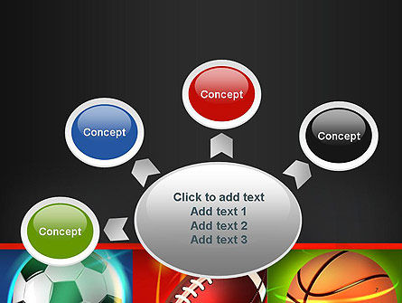 Soccer Rugby and Basketball Balls PowerPoint Template Slide 7