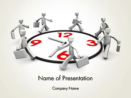 Working Time PowerPoint Template, 14265, Careers/Industry — PoweredTemplate.com