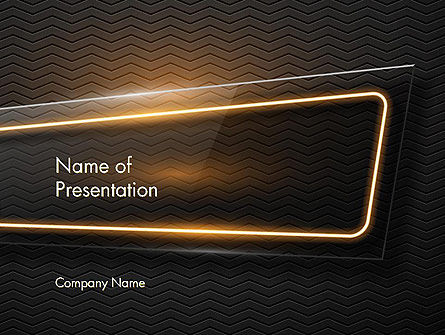 Technological Abstract Background with Glass Foreground PowerPoint Template