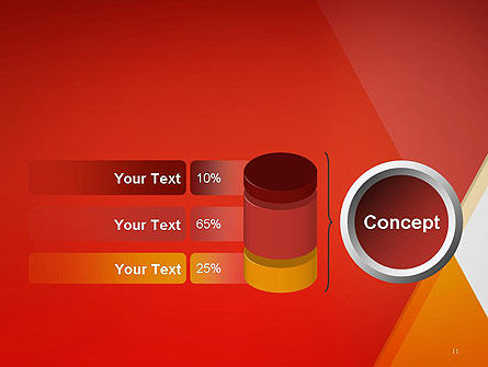 Color Mixing Abstract PowerPoint Template Slide 11