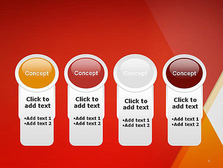 Color Mixing Abstract PowerPoint Template Slide 5