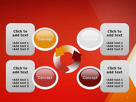 Color Mixing Abstract PowerPoint Template Slide 9