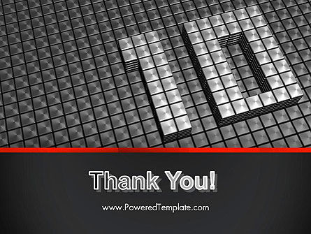 Silver Shiny Ten Year Anniversary PowerPoint Template Slide 20