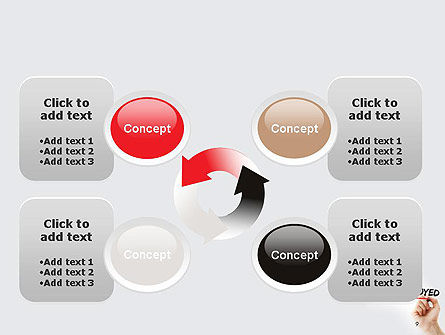 Hand Writing Self-Emplyed with Marker PowerPoint template Slide 9