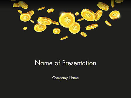 Financial/Accounting: Falling Coins PowerPoint Template #14275