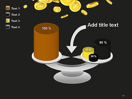 Falling Coins PowerPoint Template Slide 10