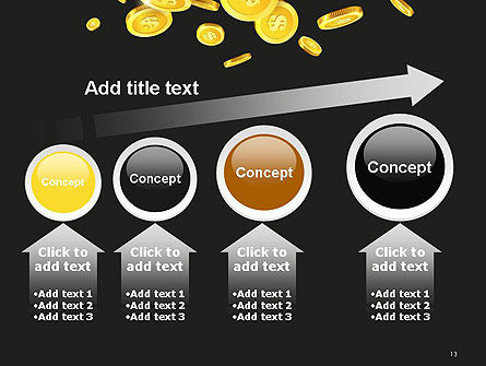 Falling Coins PowerPoint Template Slide 13