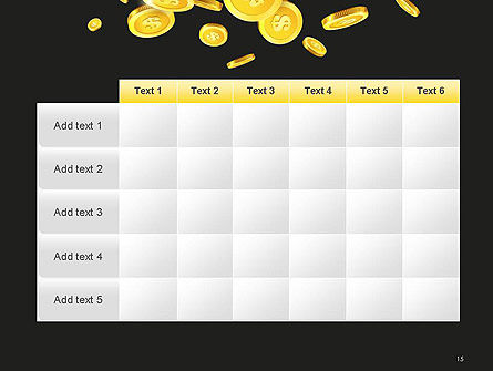 Falling Coins PowerPoint Template Slide 15