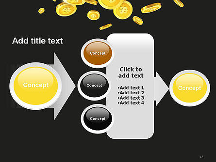 Falling Coins PowerPoint Template Slide 17