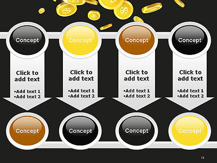 Falling Coins PowerPoint Template Slide 18