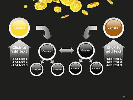 Falling Coins PowerPoint Template Slide 19