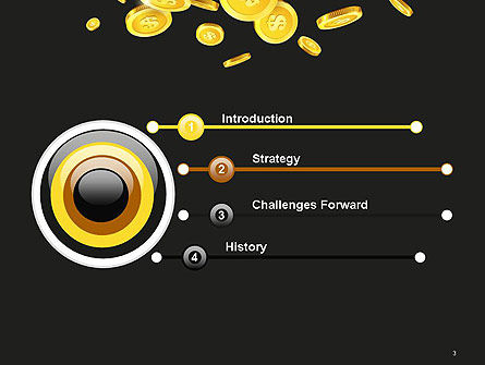 Falling Coins PowerPoint Template, Slide 3, 14275, Financial/Accounting — PoweredTemplate.com