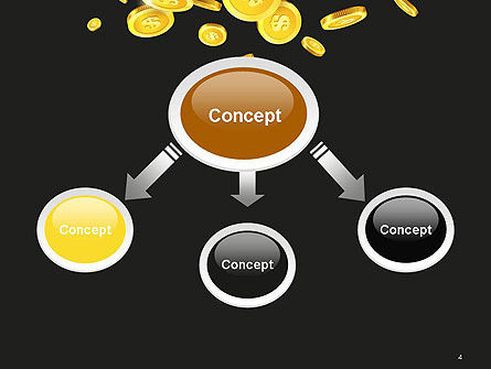 Falling Coins PowerPoint Template, Slide 4, 14275, Financial/Accounting — PoweredTemplate.com