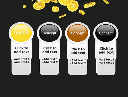 Falling Coins PowerPoint Template Slide 5