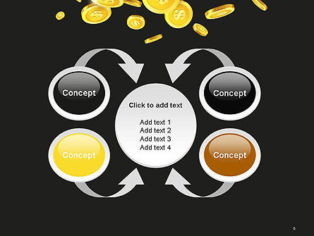 Falling Coins PowerPoint Template Slide 6