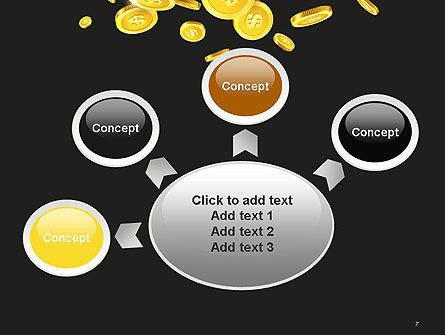 Falling Coins PowerPoint Template Slide 7