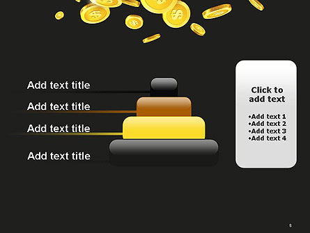 Falling Coins PowerPoint Template Slide 8