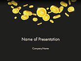 Financial/Accounting: Templat PowerPoint Koin Jatuh #14275