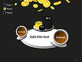 Falling Coins PowerPoint Template#16