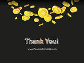 Falling Coins PowerPoint Template#20