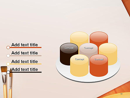 Wide and Thin Paintbrushes PowerPoint Template Slide 12