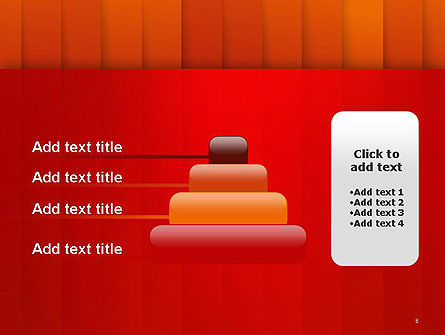Tile Layers Abstract PowerPoint Template Slide 8