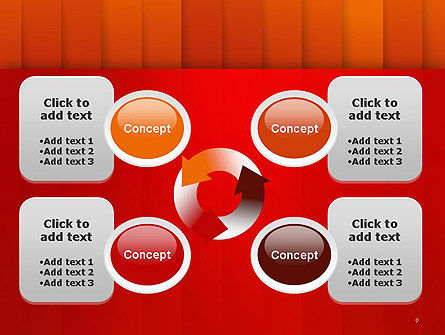 Tile Layers Abstract PowerPoint Template Slide 9