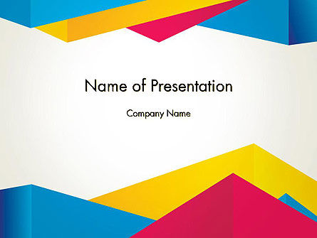 origami style layers abstract powerpoint template