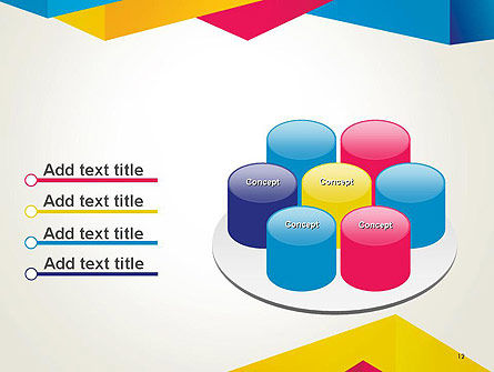 Origami Style Layers Abstract PowerPoint Template Slide 12