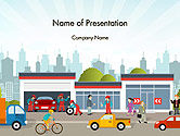 Cars and Transportation: Car Service PowerPoint Template #14280