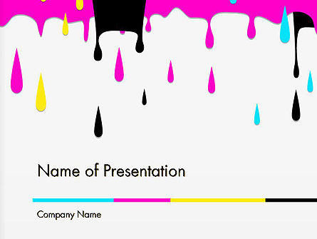 CMYK Ink Color Paint PowerPoint Template