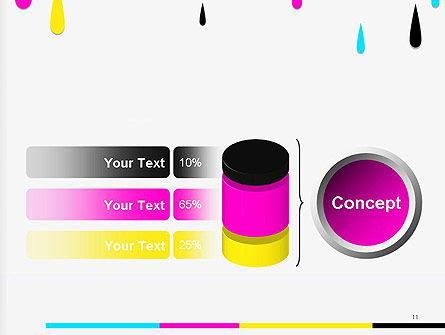 CMYK Ink Color Paint PowerPoint Template Slide 11