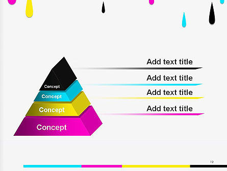 CMYK Ink Color Paint PowerPoint Template Slide 12
