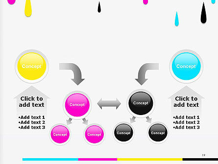 CMYK Ink Color Paint PowerPoint Template Slide 19