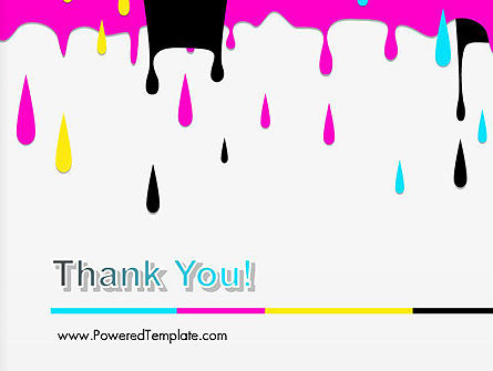 CMYK Ink Color Paint PowerPoint Template Slide 20