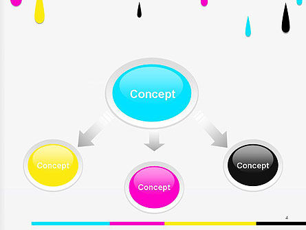 CMYK Ink Color Paint PowerPoint Template Slide 4